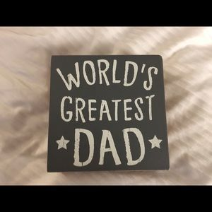 Worlds Greatest Dad wall accent piece